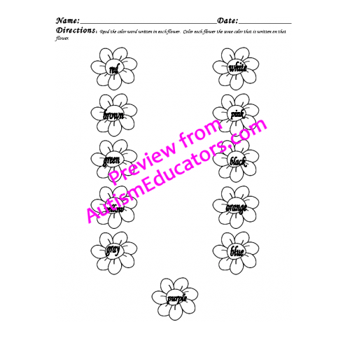 May Worksheet Packet (Flower Theme)