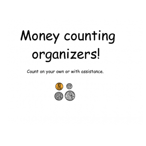 Money counting organizer