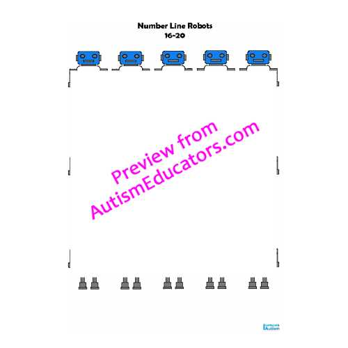 Number Line Math worksheets- 10 to 20