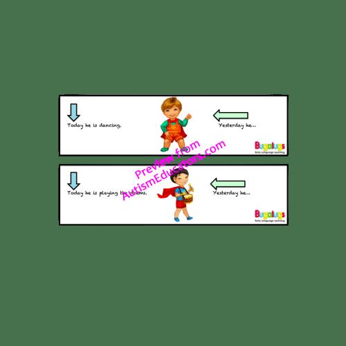 Regular Past Tense Verbs Complete the Sentence
