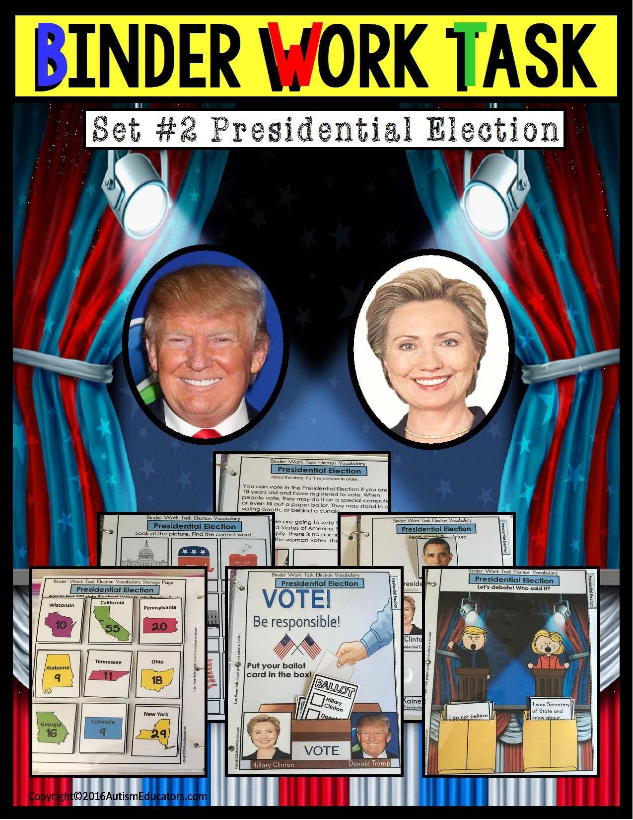 Trump Vs Clinton Election Activities For Children