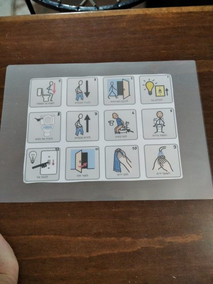 איך להכין כרטיס ניווט לסדר פעולות בשירותים - תמיכה חזותית לגמילה מחיתולים