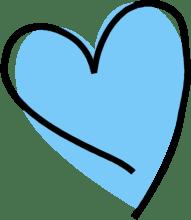 Blåt hjerte