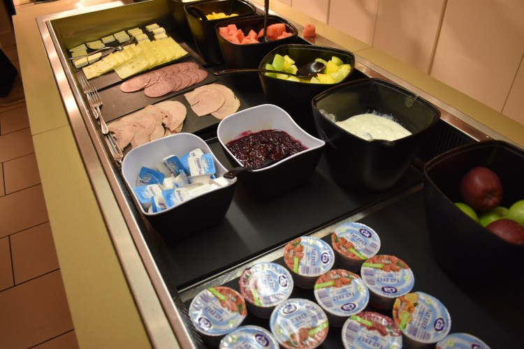 A selection of cold buffet food