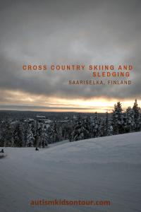 Cross Country Skiing and Sledging in Saariselka, Finland