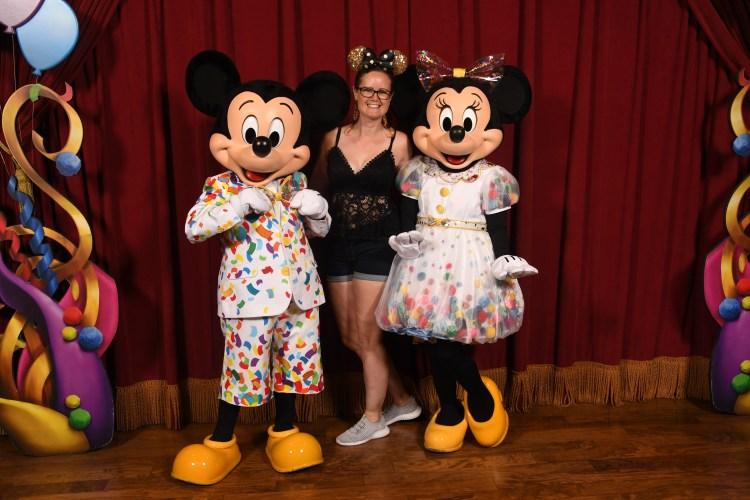 Mickey and minnie mouse at Disney's magic kingdom