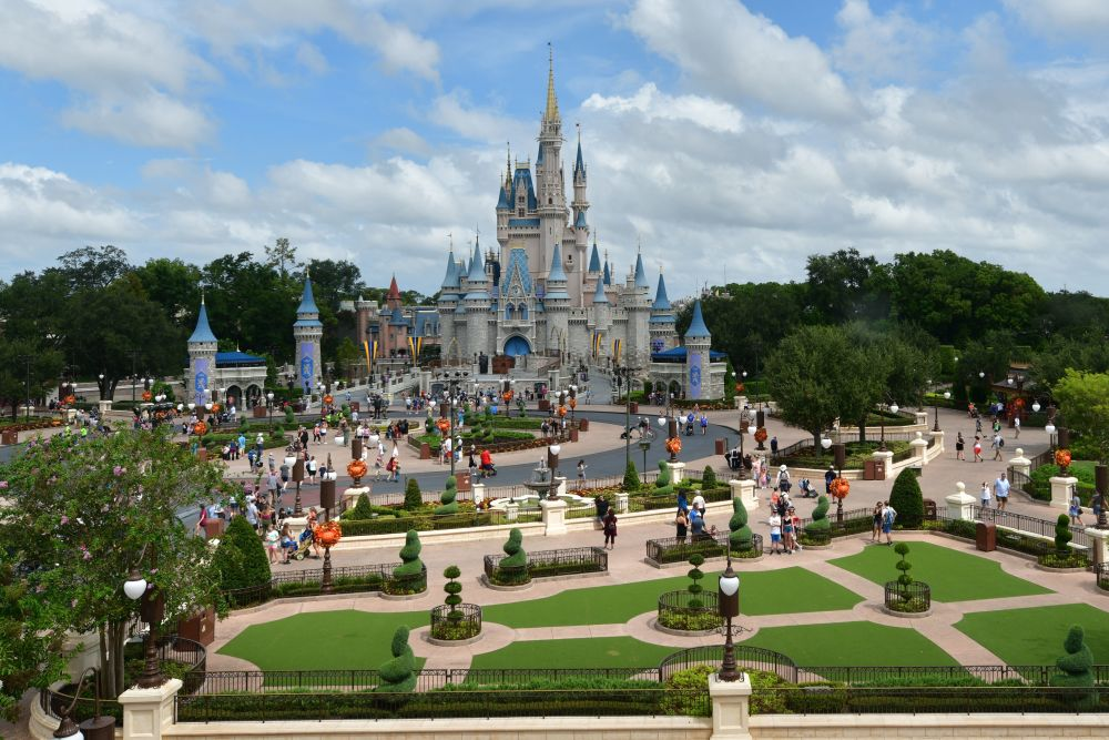 Disney's Magic Kingdom, a view of the Cinderella castle