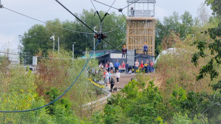 The Forest Flyover Zip Line at Colin Glen Mountain Entrance, Northern Ireland