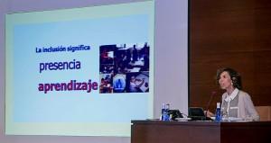 Juana María Hernández durante su ponencia en el congreso de AETAPI en Valencia