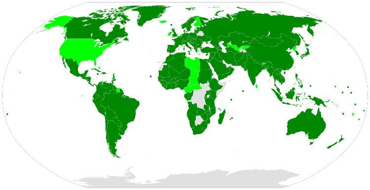 Estados partes y firmantes del Pacto de la Convención Internacional sobre los Derechos de las Personas con Discapacidad