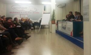 Durante la asamblea de familias y centros. Foto: Autismodiario