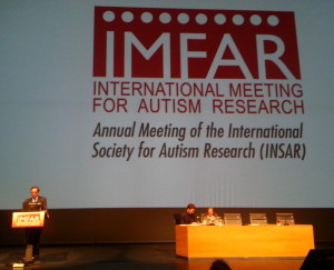 El Dr. Joaquín Fuentes durante el acto de inauguración del IMFAR 2013 Foto: Autismo Diario