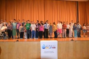 Durante la entrega de los premios Rosetta