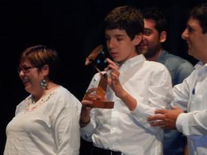 Momento de la entrega del premio