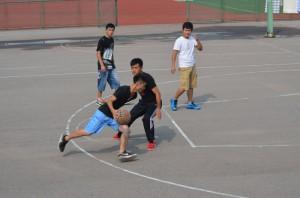 Jugando a basket