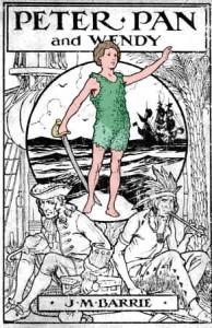 Cubierta del libro de Peter Pan de 1915