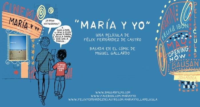 Cartel de la película María y Yo (2010), de Félix Fernández de Castro, basada en el cómic de Miguel Gallardo