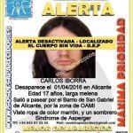 Hallan sin vida al joven con Asperger desaparecido en Alicante