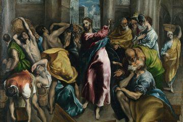 Jesucristo expulsa a los mercaderes del Templo, de El Greco, 1600.