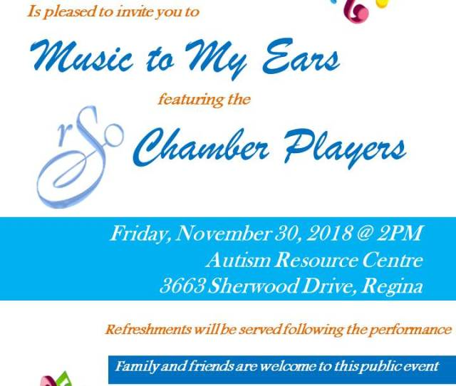 Rso Chamber Players November   The Autism Resource Centre