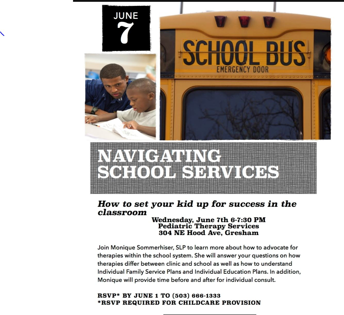 Navigating School Services – Autism Society of Oregon