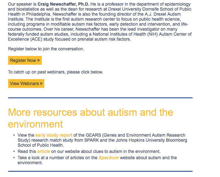 Environmental Autism Risk Factors (webinar) – Autism Society