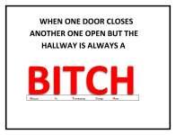 trans bitc WHEN ONE DOOR CLOSES