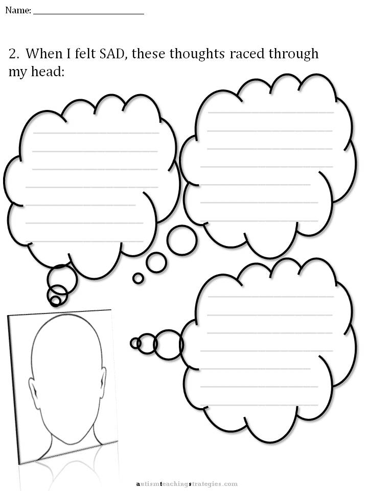 CBT Children's Emotion Worksheet Series: 7 Worksheets for