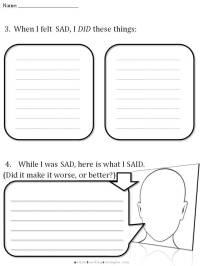 CBT Childrens Emotion Worksheet Series: 7 Worksheets for ...