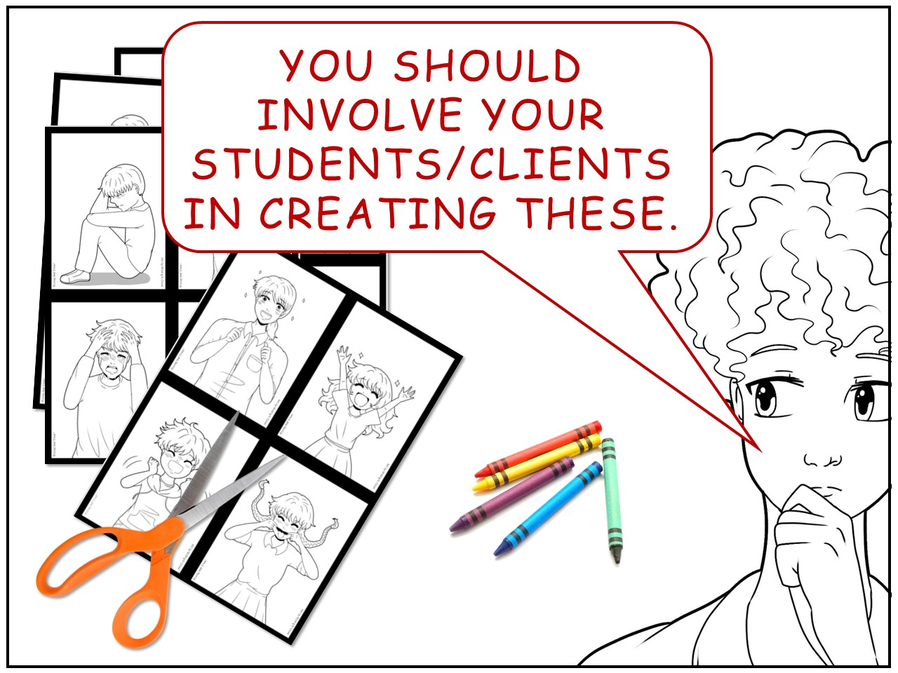 Anime Emotion Picture Cards Project For Counseling