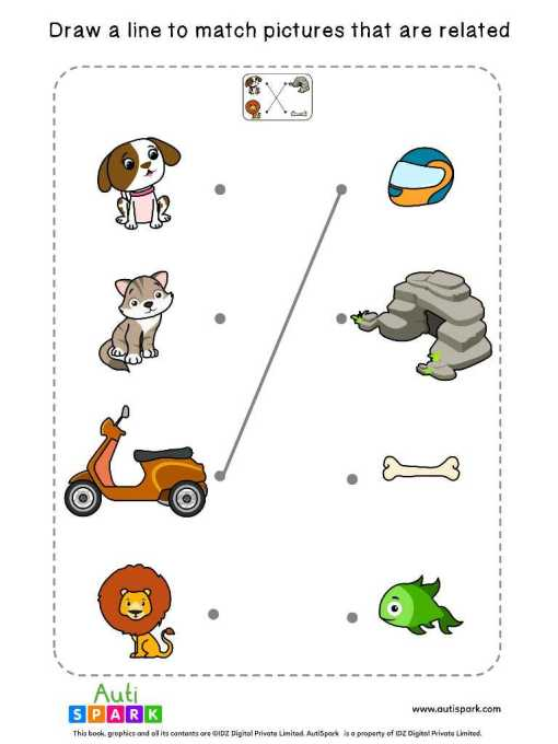 Free Picture Matching Worksheet - Match Associated Pictures-2