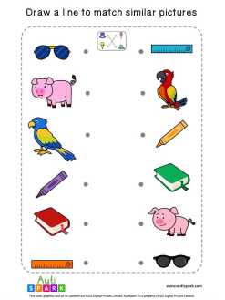 Matching Pictures Worksheet #01 – Match Similar Images