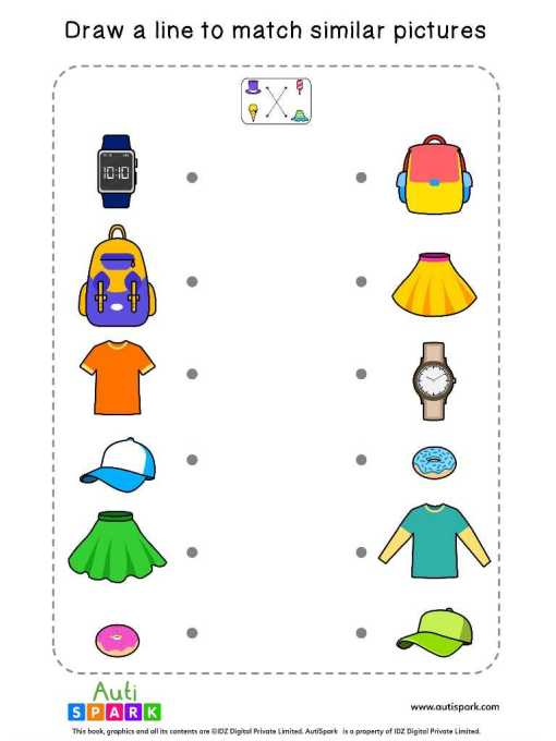 Matching Pictures Free Worksheet #04 – Match Similar Images