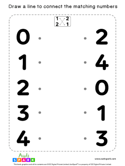 Match The Numbers Worksheet - Free Matching #02