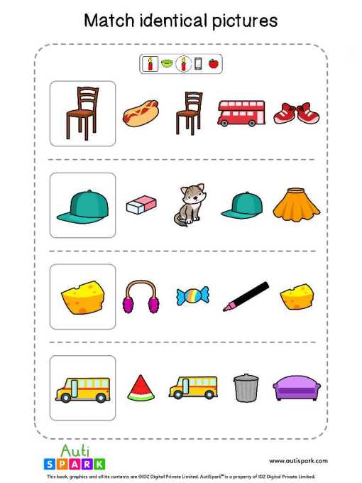 Matching Pictures Free Worksheet - Circle The Same Pictures #12