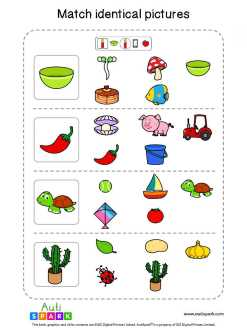 Matching Pictures Free Worksheet - Circle The Same Pictures #13