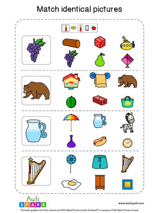 Matching Pictures Free Worksheet - Circle The Same Pictures #2