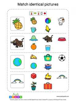 Matching Pictures Free Worksheet - Circle The Same Pictures #24