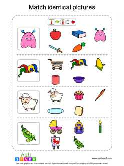 Matching Pictures Free Worksheet - Circle The Same Pictures #25