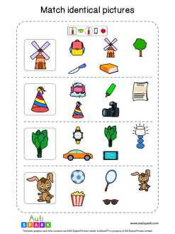 Matching Pictures Free Worksheet - Circle The Same Pictures #27