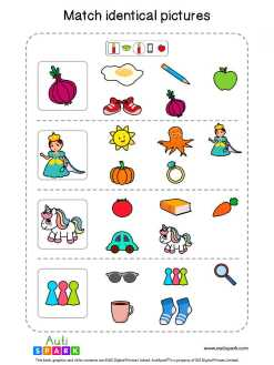 Matching Pictures Free Worksheet - Circle The Same Pictures #29