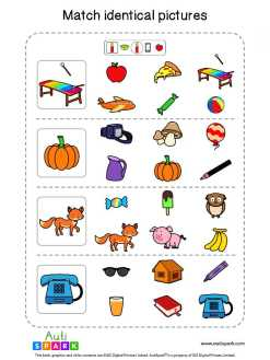 Matching Pictures Free Worksheet - Circle The Same Pictures #8