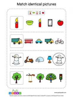 Matching Pictures Free Worksheet - Circle The Same Pictures #9