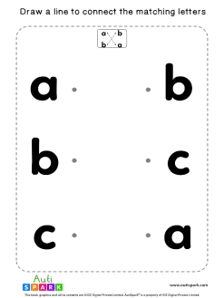 Match Lowercase Letters #01 - Matching Worksheet