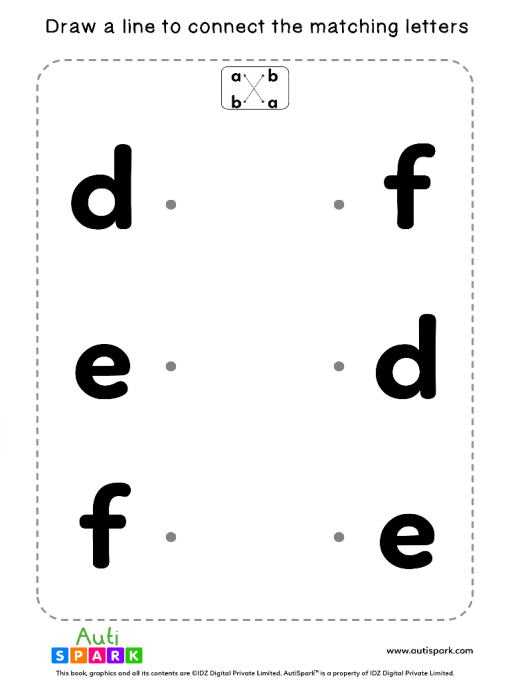Match Lowercase Letters #02 - Matching Worksheet