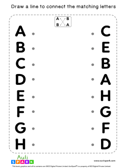 Match Uppercase Letters #08 - Free Matching Worksheet