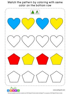Match Color Patterns Worksheet #03 – Color the Shapes