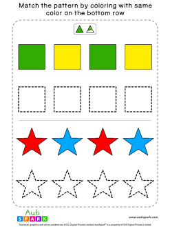 Match Color Patterns Worksheet #05 – Color the Shapes