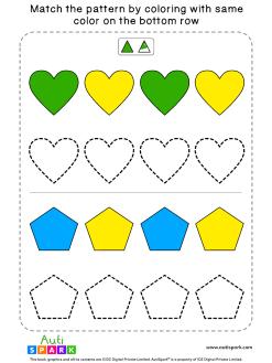 Match Color Patterns Worksheet #06 – Color the Shapes