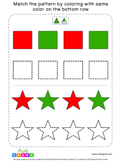 Match Color Patterns Worksheet #08 – Color the Shapes